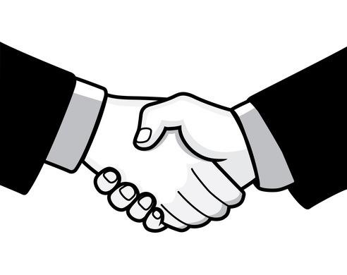 492x390 Black Clipart Handshake