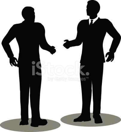 405x439 Business Handshake Silhouette Stock Vector