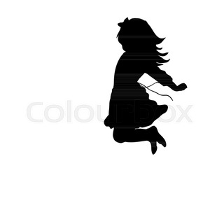 320x320 Happy Silhouette Kids Plying Activity, Art Vector Design Stock