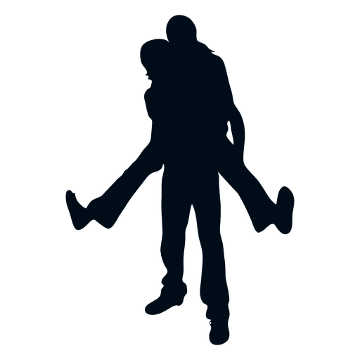 512x512 Young Happy Couple Silhouette