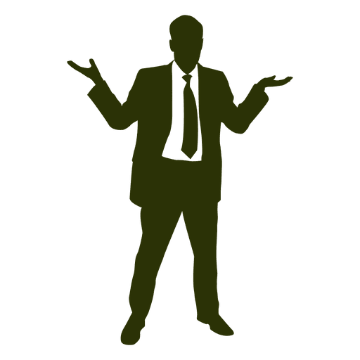 512x512 Businessman Happy Silhouette