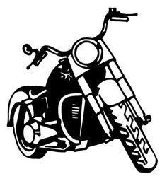 236x256 Motorcycle Silhouette For Emblem. Stock Photography