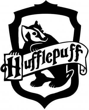 300x368 Harry Potter Hufflepuff Crest Car Or Truck Window Decal Sticker