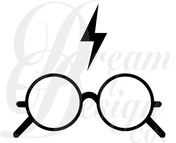 570x462 Harry Potter (Glasses Amp Lightning) Design For Silhouette Studio