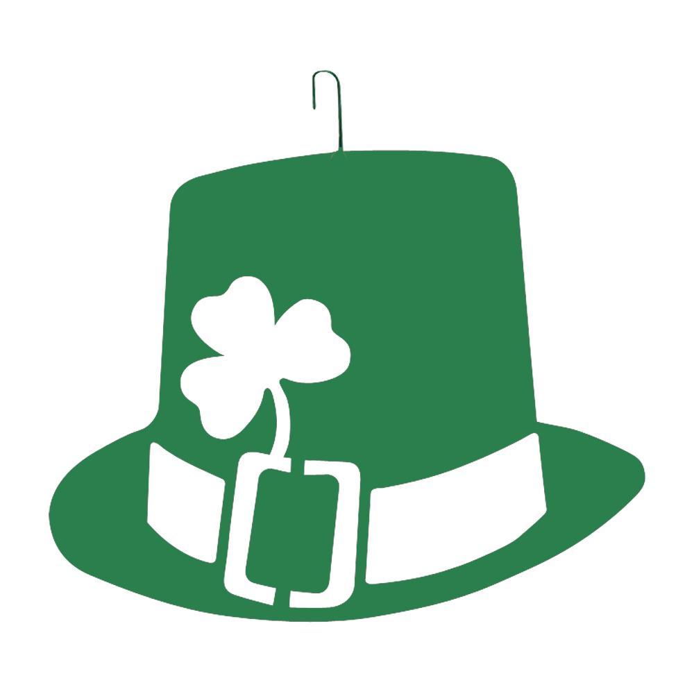 1000x1000 Wrought Iron St. Patricks Day Hat Green Decorative Hanging