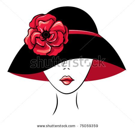 450x430 Free Diva Clip Art Vector Silhouette Of Woman In A Hat
