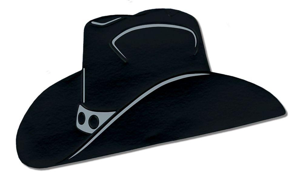 1000x592 Black Foil Cowboy Hat Silhouette 19
