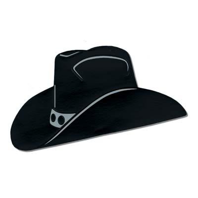 400x400 Foil Cowboy Black Hat Silhouette Ebay