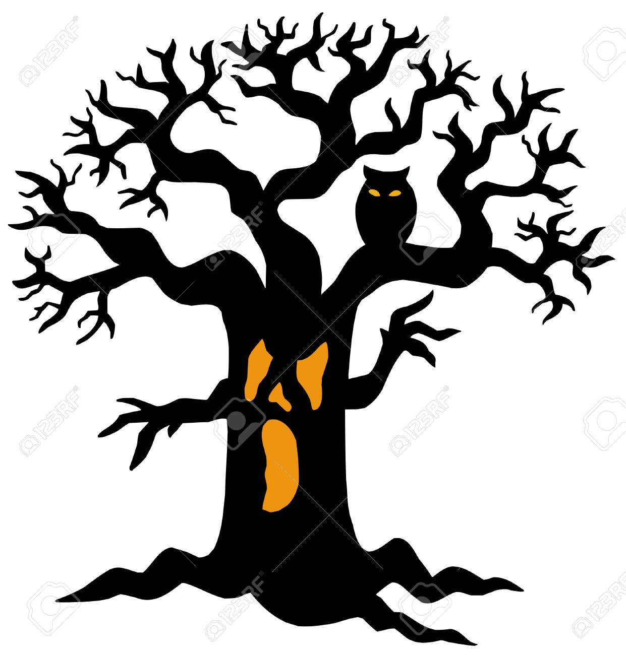 1241x1300 Haunted House Clipart Haunted Tree