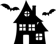 236x185 Halloween Haunted House Die Cut Silhouette Haunted Mansion