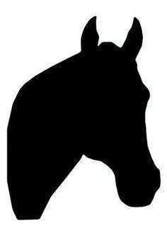 236x332 Black Horse Head Silhouette Clipart