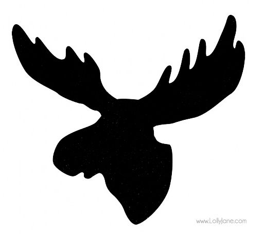 513x455 Moose Head Silhouette Clip Art
