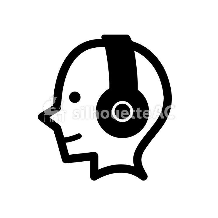 750x750 Free Silhouette Vector Dj, Earphone