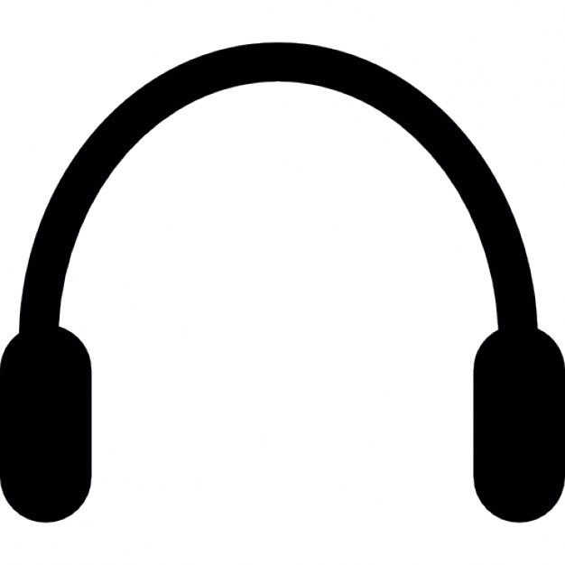 626x626 Headphones Silhouette Icons Free Download