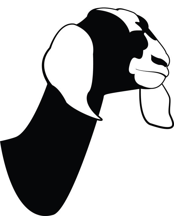 600x745 Goat Head Silhouette