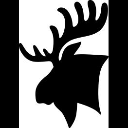 263x262 Moose Head Silhouette Clip Art