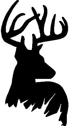 223x404 Deer Head Clipart Black And White