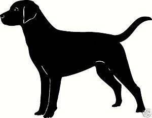 300x233 Lab Labrador Dog Outline Silhouette Decal Sticker Dog Outline