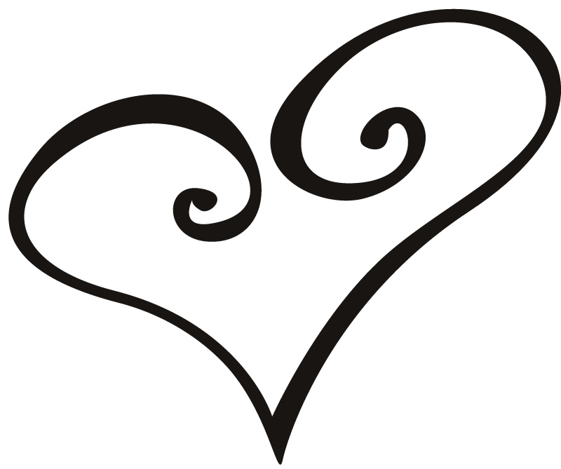 800x669 Love Heart Outline Tattoo