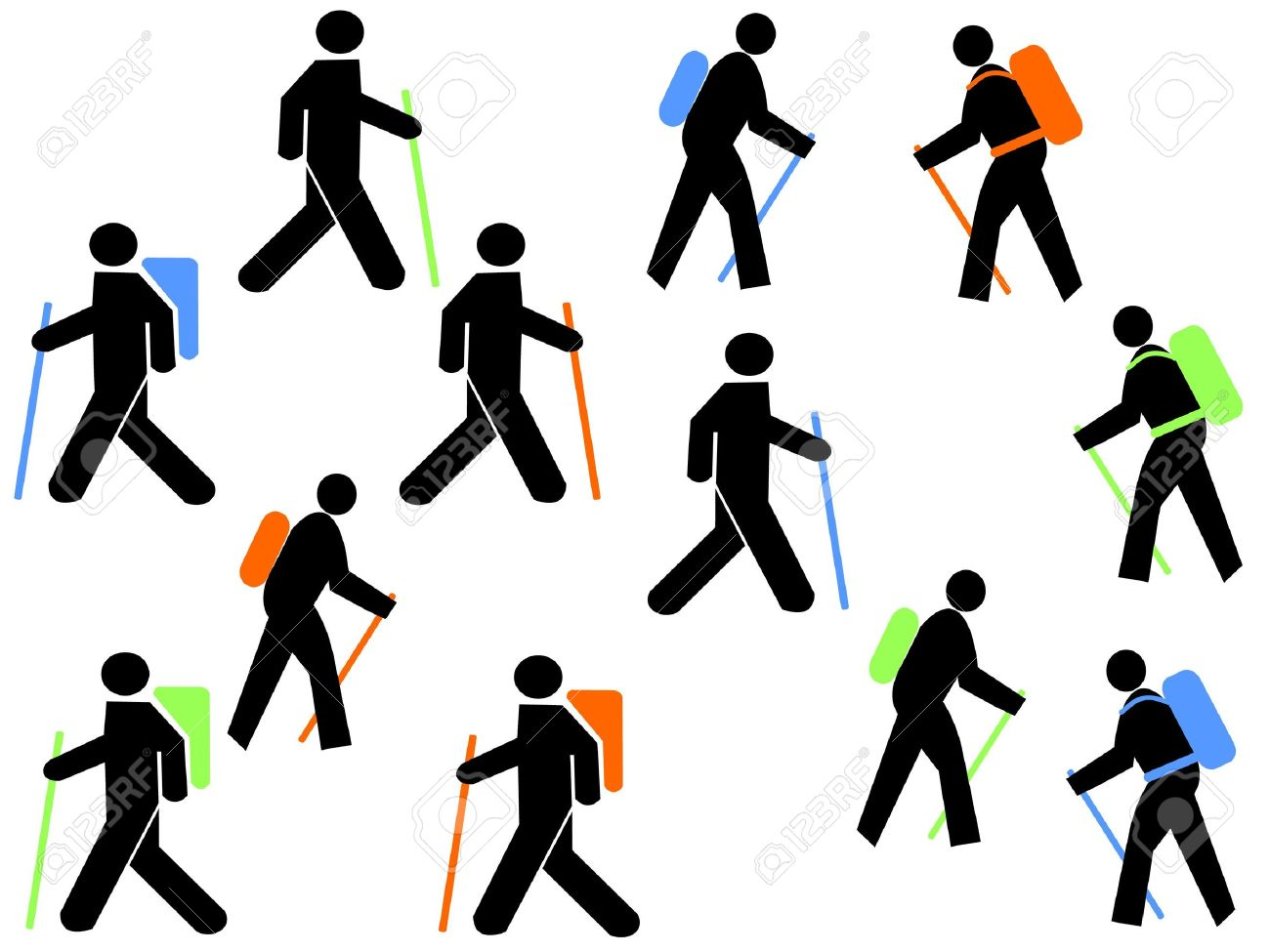 1300x975 Hiking Clipart Stick Figure