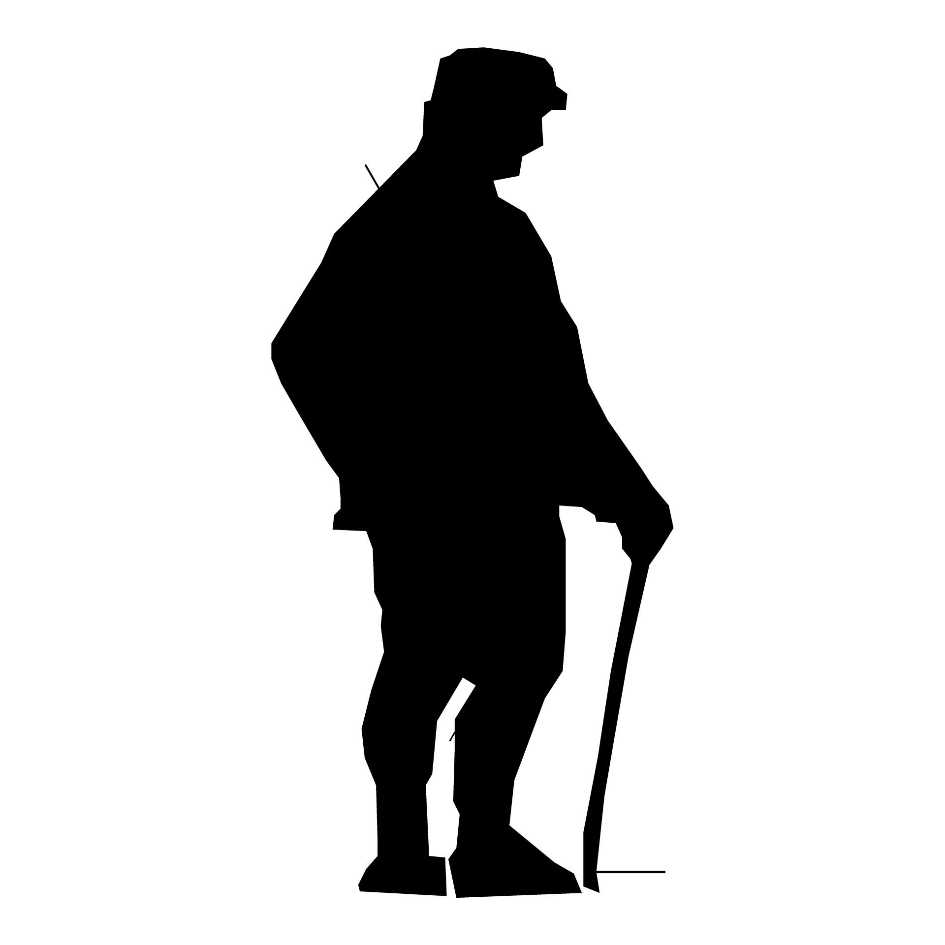 1920x1920 Silhouette Man Hiking Free Stock Photo