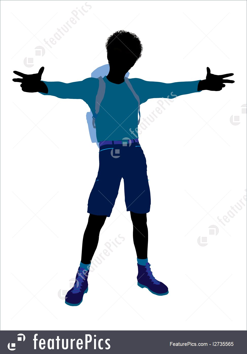 974x1392 Silhouettes And Outlines Teen Hiker Silhouette