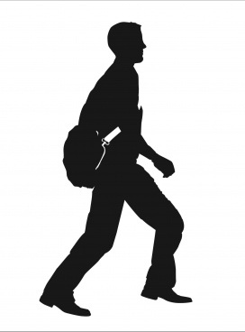 272x368 Walking Movement Of Businessman Silhouette Free Footage In Mp4