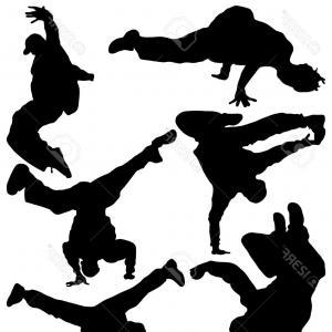 300x300 Hip Hop Dancer Silhouettes Vector Clipart Lazttweet
