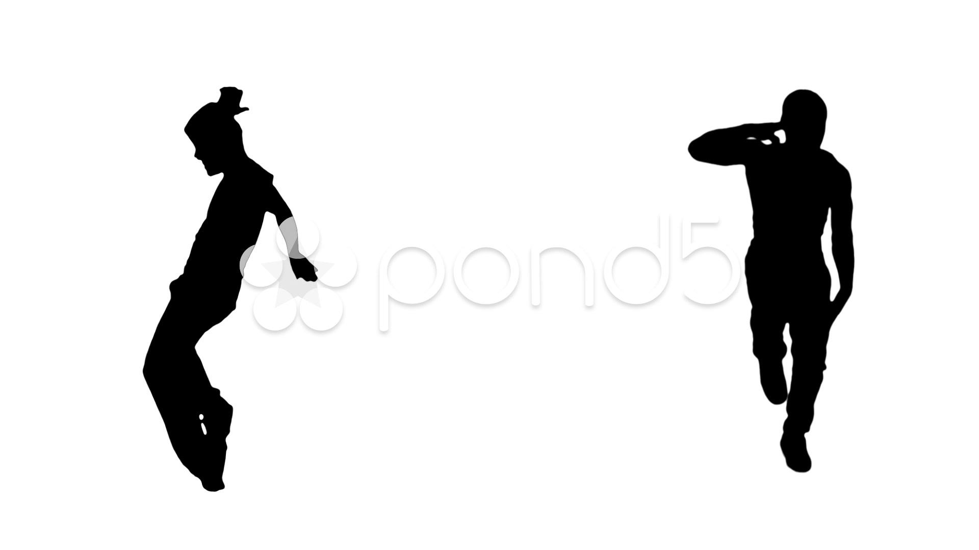 1920x1080 Male Dancing Silhouette. Hip Hop. ~ Video Clip