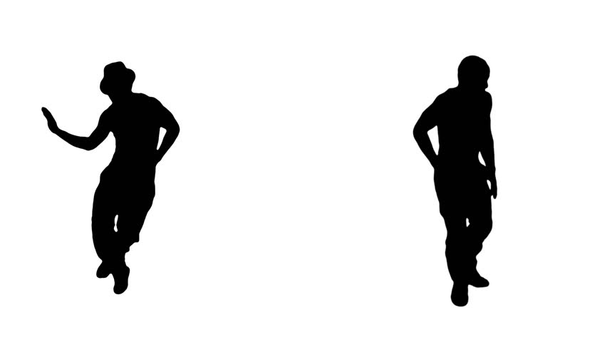 852x480 Male Silhouette Dancing Hip Hop. 2 In 1. More Options In My