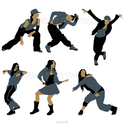 400x400 Girl Hip Hop Dancer Clipart