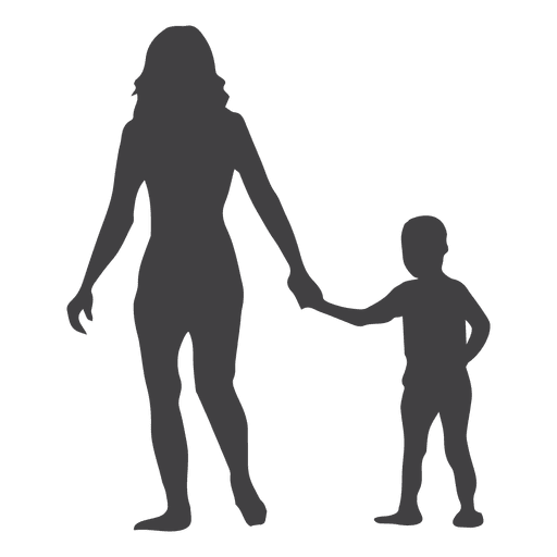 512x512 Mothers Day Silhouette With Child In Hand