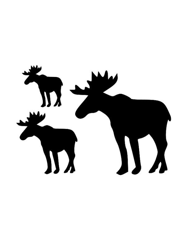 570x738 36 Best Images On Silhouettes, Moose Silhouette