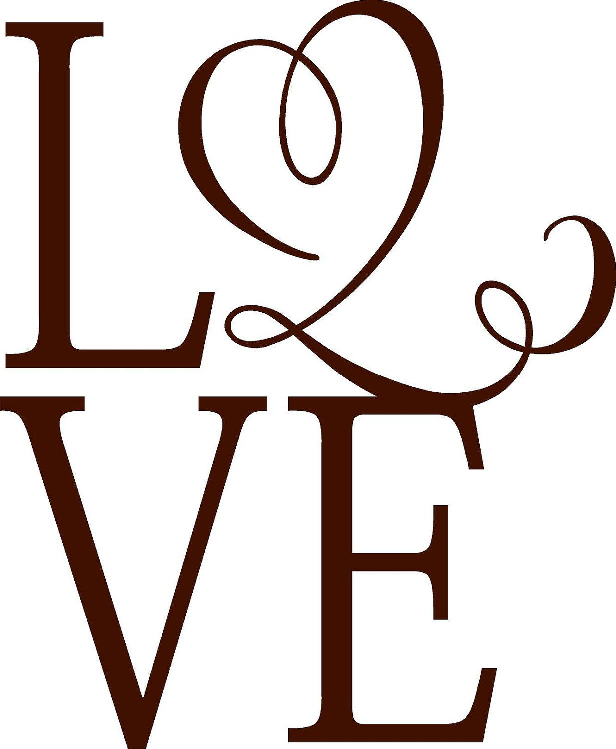 1233x1500 Love Vinyl Lettering Wall Words Silhouette Cameo Projects