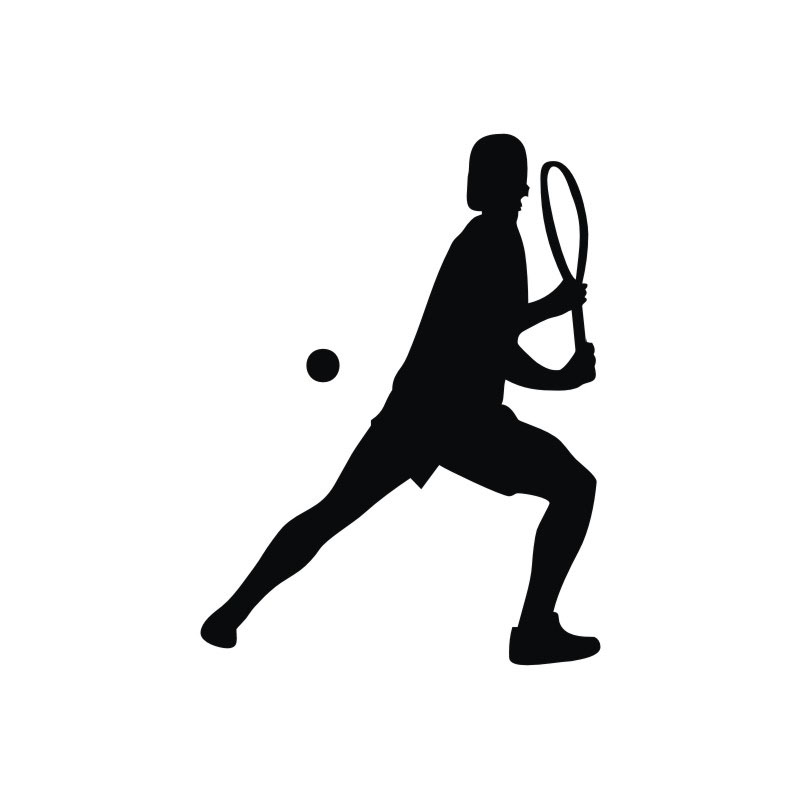 800x800 Tennis Wall Stickers Silhouette Home Decor Accessories Sport Wall