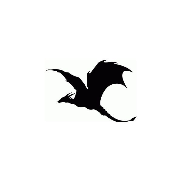 600x600 Soaring Dragon Silhouette Liked On Polyvore Featuring Home