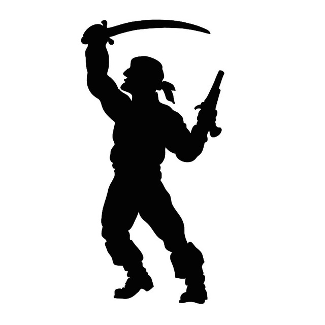 640x640 Keeping Broadsword And Gun Pirate Wall Sticker Boys Bedroom