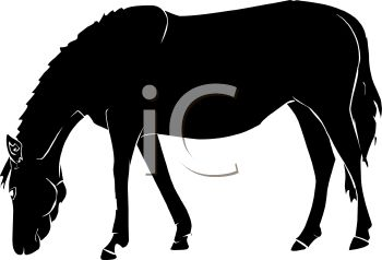 350x238 Picture Of A Silhouette Of A Horse In A Vector Clip Art