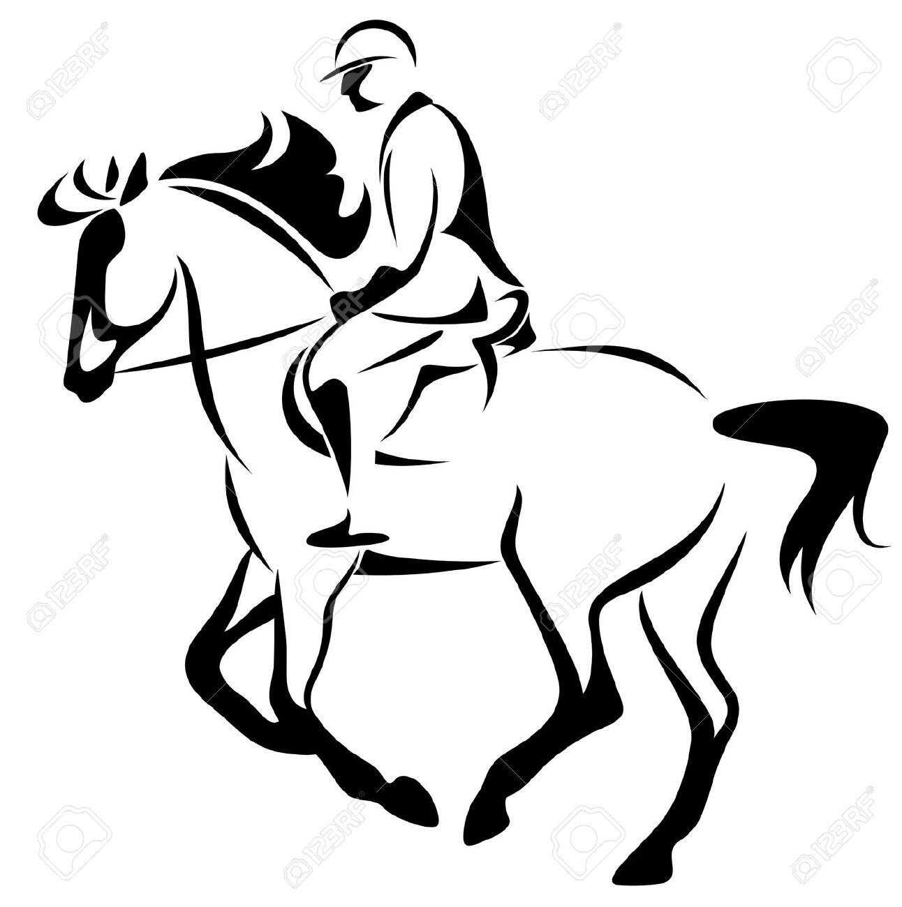 silhouette horse riding at getdrawings com free for personal use rh getdrawings com horse racing clip art horseback riding clipart