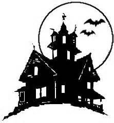 222x241 Haunted House Silhouette Clip Art