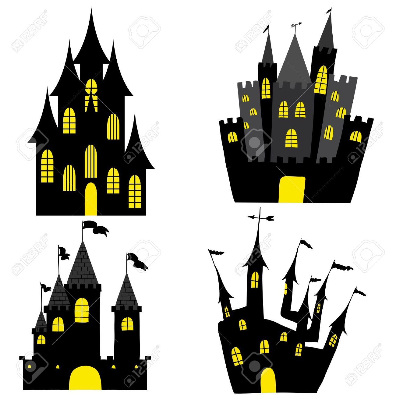 1300x1300 Haunted House Silhouette Background Haunted Houses