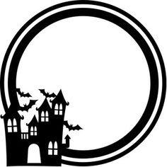 236x236 Haunted House Silhouette Halloween! Haunted Houses