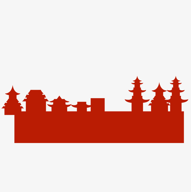 650x651 House Silhouette, China, Chinese Style, Houses Png Image