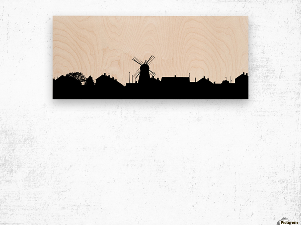 1200x900 Silhouette Of A Skyline With A Windmill And Houses Whitburn, Tyne