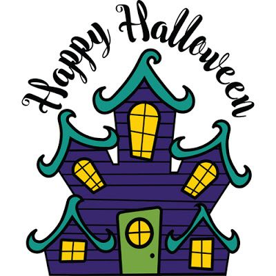 400x400 Haunted House Svg Cut File Haunted Houses, Filing And Vinyl Cutting