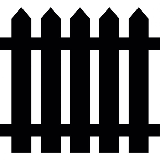 626x626 Fence Of Wood, Silhouette Icons Free Download