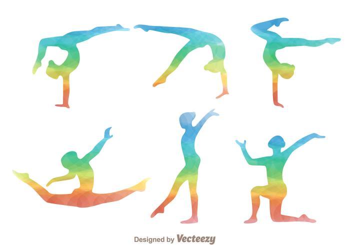 700x490 Gymnast Rainbow Silhouette Icons