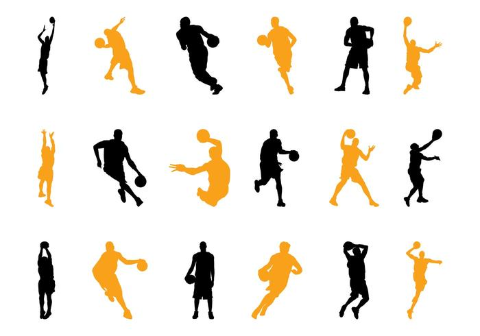 700x490 Basketball Players Silhouettes Pack
