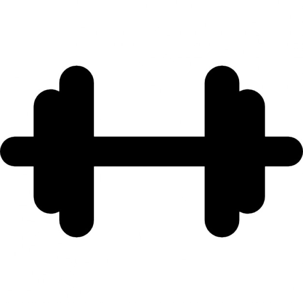 626x626 Gym Dumbbell Black Silhouette Icons Free Download