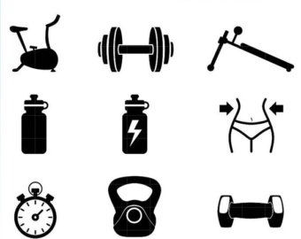 340x270 Household Chores Silhouette Icons Clipart. High Quality